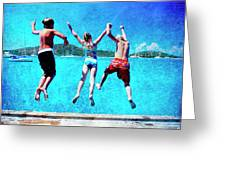 Jump In Greeting Card