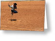 Jump Rope Cowboy Style Greeting Card