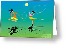 Jump-rope Greeting Card
