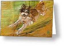Jumping Dog Schlick 1908 Greeting Card