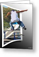 Jumping Out Of The Picture Greeting Card