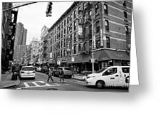 junction of bayard street and mulberry street chinatown New York City USA Greeting Card