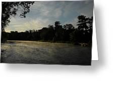 June Mississippi River Misty Dawn Greeting Card