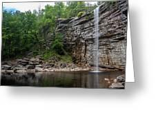 June Morning At Awosting Falls II Greeting Card