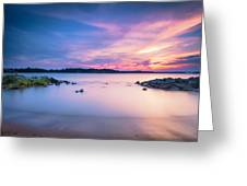 June Sunset On The River Greeting Card