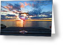 June Sunset Over Wolfe Island Greeting Card