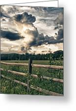 June Thunderstorms Along Connecticut River Greeting Card
