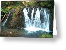 Juneau Waterfall Greeting Card