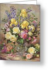 June's Floral Glory Greeting Card