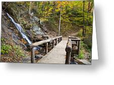 Juney Whank Falls And A Place To Rest Greeting Card