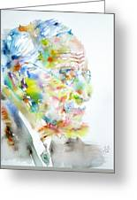 Jung - Watercolor Portrait.4 Greeting Card