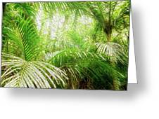 Jungle Abstract 1 Greeting Card