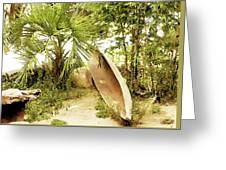 Jungle Canoe Greeting Card