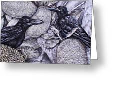 Jungle Crows On Jackfruit Greeting Card