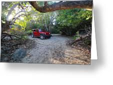 Jungle Jeep Greeting Card