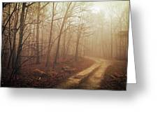 Jungle Journey - The Path Sepia Greeting Card