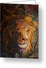 Jungle Lion Greeting Card