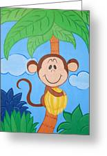 Jungle Monkey Greeting Card