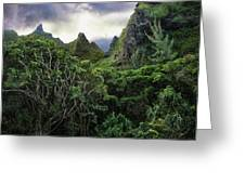 Jungle Mountain Greeting Card