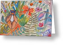 Jungle Scene With Monkey Greeting Card