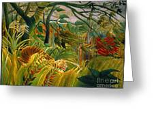 Jungle Storm 1891 Greeting Card