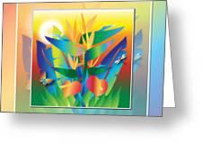 Jungle Sunset Greeting Card