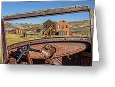 Junk Car Window View Greeting Card