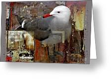 Junkyard Gull Greeting Card