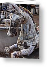 Junkyard Horse Greeting Card