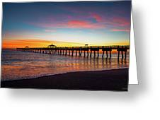 Juno Pier Colorful Sunrise Greeting Card