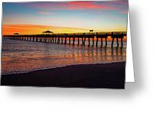 Juno Pier Colorful Sunrise Panoramic Greeting Card
