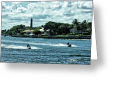 Jupiter Inlet And Lighthouse Greeting Card
