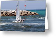 Jupiter Inlet In Florida Greeting Card