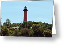 Jupiter Inlet Light Greeting Card
