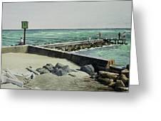Jupiter Inlet Marine Marker One  Greeting Card