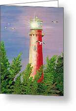 Jupiter Lighthouse - Sunburst Greeting Card
