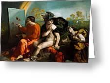 Jupiter Mercury And Virtue 1524 Greeting Card