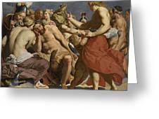 Jupiter Rebuked By Venus On Mount Olympus  Greeting Card