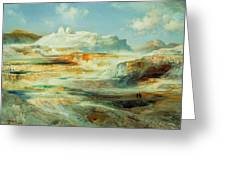 Jupiter Terrace  Yellowstone Greeting Card