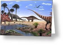 Jurassic Dinosaurs, Artwork Greeting Card