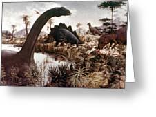Jurassic Swamp Greeting Card