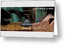 Jurassic World Fallen Kingdom 2.5 Greeting Card