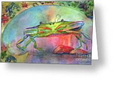Just A Little Crabby Greeting Card