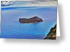 Just An Island Away Greeting Card
