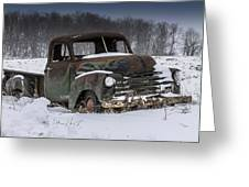 Just An Old Pickup Truck Greeting Card