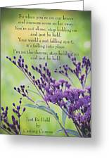Just Be Held Greeting Card
