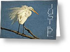 Just Be Greeting Card