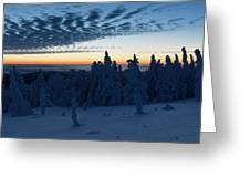 Just Before Sunrise On The Brocken In The Harz Mountains Greeting Card