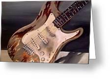 Just Broken In- Old Guitar Greeting Card