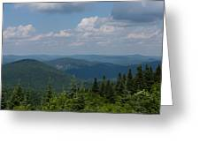 Just Climb Mountains And Breathe Deeply Greeting Card